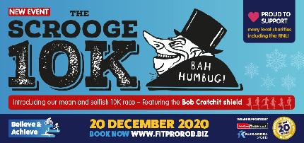 Portsmouth Coastal Waterside Marathon 2020 - Scrooge 10k - Scrooge 10k